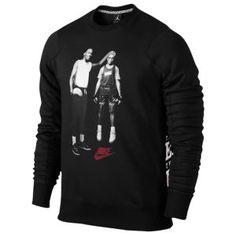 8f7376473aa2c0 Jordan Mike  amp  Mars Fleece Crew - Men s - Black Gym Red Sweat Shirt