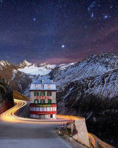 , komentarze: 174 – Beautiful Abandoned Places (It's Aban… – Winter Night Desert Places, Switzerland Hotels, Glacier, Europe, Rhone, Night Photography, Abandoned Places, Travel Destinations