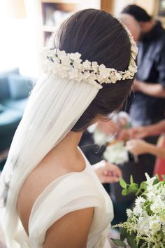 Modern Hairstyles for White Brides Bridal Veils And Headpieces, Bridal Headdress, Wedding Veils, Bridal Hairdo, Bridal Crown, Looks Style, Bridal Looks, Hair Pieces, Bridal Dresses