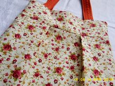torba, torba w kwiatki, torba dwustronna, torba ceglasta, kolor cegła, miedziany
