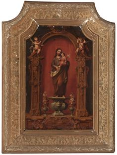 José de Ibarra Nuestra Señora del Buen Consejo y San José con el Niño