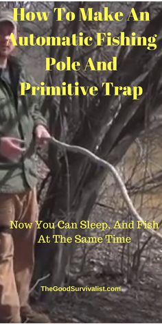This type fishing pole is highly efficient in catching fish. Step by step directions are included in this video. http://www.thegoodsurvivalist.com/how-to-make-the-highly-effecient-and-effective-automatic-fishing-pole-primitive-trap-now-you-can-sleep-and-fish-at-the-same-time/