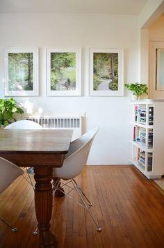 Olivia's Elegant Oakland Apartment — House Tour.  Oak clawfoot table found on Craigslist!  Amazing.