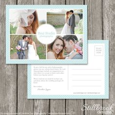 Photographer Marketing Template Card - Wedding Photography Photo Marketing Postcard Flyer Board