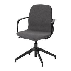 LÅNGFJÄLL Swivel chair, Gunnared dark gray, black Gunnared dark gray black