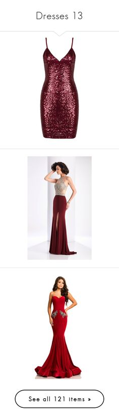 """""""Dresses 13"""" by argboo on Polyvore featuring dresses, sequin mini dress, party dresses, cocktail party dress, short sequin dress, red dress, gowns, formal dresses, marsala and white evening dresses"""