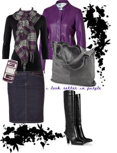 """""""I look better in purple"""" by summrlynn ❤ liked on Polyvore"""
