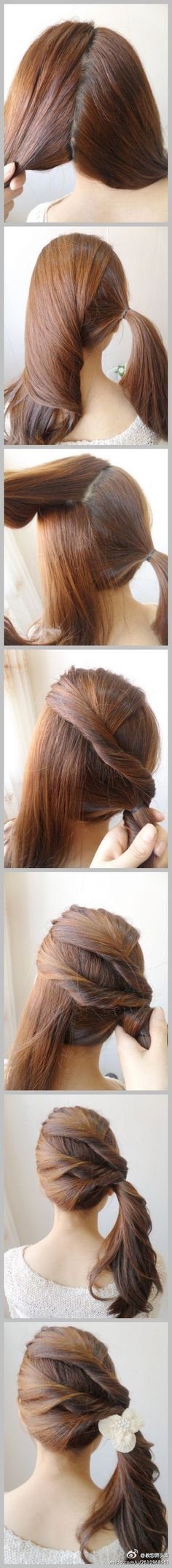 Great twist on a pony tail!