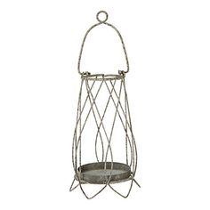 Hanging Wire Lantern    Style No. 24803975  $12.00