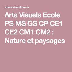 Arts  Visuels Ecole PS MS GS CP CE1 CE2 CM1 CM2 : Nature et paysages