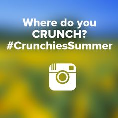 Tag us in your #instagram pics in July telling us WHERE YOU CRUNCH and if we use your pics you could #win a pack of Crunchies! #CrunchiesSummer
