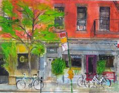 Chelsea, New York, Peter Quinn RWS watercolour 2014 Chelsea New York, Chelsea News, Urban Sketching, Watercolours, Cities, Paintings, Drawings, Prints, Art