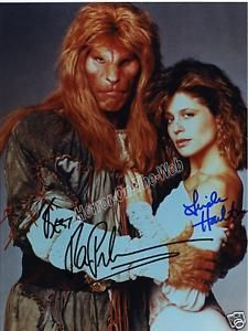 "Beauty Beast RON PERLMAN LINDA HAMILTON Autograph Rept~~This is when I first strted my ""crush"" on RP...lol"