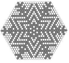 Bilderesultat for hama perler julepynt Hama Beads Patterns, Beaded Bracelet Patterns, Beading Patterns, Diy Perler Beads, Pearler Beads, Pearl Crafts, Motifs Perler, Hexagon Quilt, Hexagons