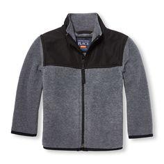 337e1668f Toddler Boys Long Sleeve Zip-Up Fleece Trail Jacket Toddler Boy Outfits