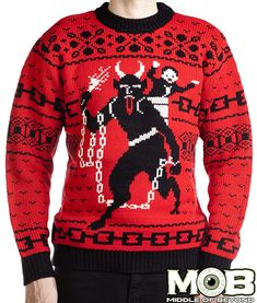 Krampus The Christmas Devil Sweater http://middleofbeyond.com/collections/christmas/products/krampus?variant=518079337