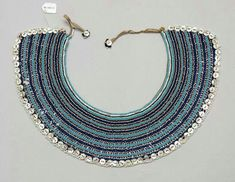 Xhosa necklace, called Ingqosha. South Africa. Xhosa, Mfengu, Nguni peoples. Collar Necklace, Beaded Necklace, Xhosa, South African Artists, African Jewelry, Ancient Jewelry, Tribal Art, African Fashion, Queens