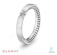 Capri Jewelers Arizona ~ www.caprijewelersaz.com Danhov platinum and diamond Voltaggio engagement ring.