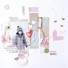 """""""Isn't this layout created by our DT girl @amelie_mordret just stunning? So light, airy and dynamic, great #scrapbooking #inspiration #citrustwistkits"""""""