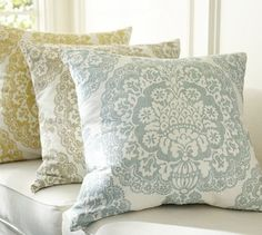 Lucianna Medallion Pillow Cover | Pottery Barn traditional pillows