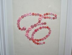 Button Monogram I bet I could do that w/ an embrod. hoop and transferred pattern....skirt purses??