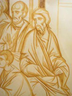 Greek Icons, Church Interior, Fitness Wear, Sculptures, Painting, Byzantine Art, Christian Art, Byzantine Icons, Fresco