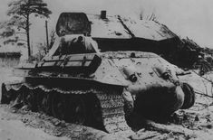 destroyed soviet T-34/76 tank