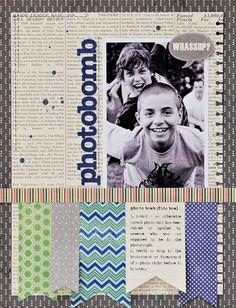 photobomb by Lynn Ghahary - Two Peas in a Bucket #scrapbooking #boys