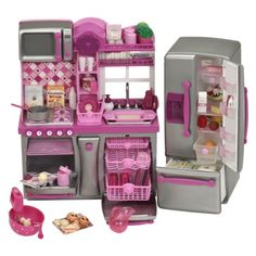 "Our Generation 18"" doll kitchen (Target). A great alternative to the more expensive doll kitchens out there. Comes with tons of cute accessories."