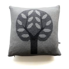 45cm Knitted Lambwool Big Tree cushion Sally Nencini pillow #popandlolli #pinparty