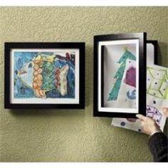 IDEIA  - Fazer moldura de quadro com dobradiça para periodicamente trocar os desenhos por novos feitos pelos filhos