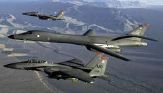 F-15 EAGLES & B-1 LANCER