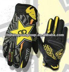 Shot 2017 Herren Motocross ROCKSTAR schwarz-gelb MTB Handschuhe