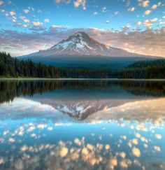 Mount Hood in reflection