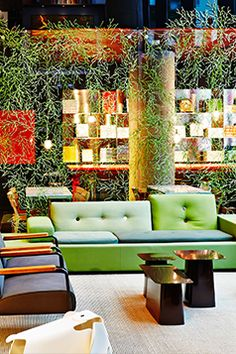 Everything about the lobby at citizenM feels clean and current, from the ample outlets to the digitized self-check-in (including on-screen prompts to purchase breakfast or a late check-out).