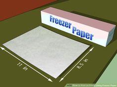 Print on Fabric Using Freezer Paper. jwt