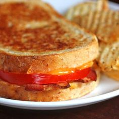 Cheddar Tomato Frech Toast
