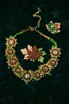 Fall Flowers Full of Crystals One of a Kind that by seesbeyond