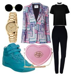 """""""Polly pocket purse"""" by andreolam on Polyvore featuring MSGM, Plakinger, Boohoo, Reebok, Miu Miu and Gucci"""