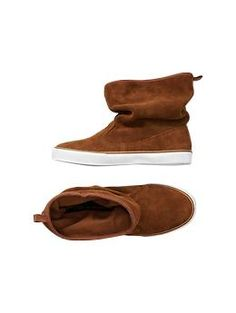 GapKids is so hip! Suede sneaker boots