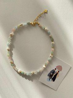 Simple Jewelry, Cute Jewelry, Jewelry Accessories, Jewelry Design, Bead Jewellery, Beaded Jewelry, Beaded Bracelets, Jewelery, Diy Necklace