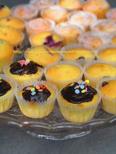 Mini Muffins mit Schokolade