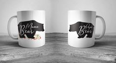 mama bear, bear mug, coffee mug, coffee mugs with sayings, coffee mugs handmade, coffee mug set,wedding gifts for parents,anniversary gifts  This cute design will be printed on best quality Grade A white Ceramic and Silver metallic designs. We use dye sublimation and heat transfer technique to print the design on the mugs. This ensures that the design and the words will look brand new for an extended period of time. Also, all the mugs are both dishwasher and microwave safe.  Gift Packing…
