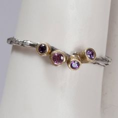 Purple Sapphire Ring by Karen Kertesz