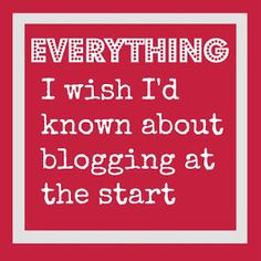 Everything I wish I'd known about blogging at the start @Maaike Boven Make Lists