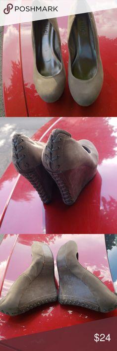 2c4cf2b9e44de ROUGE HELIUM WEdge LADIES SHOES Gray ROUGE HELIUM WEdeg Rouge Helium Shoes  Wedges Ladies Shoes