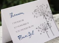 Will you be my bridesmaid cards. Gorgeous! #dandelion
