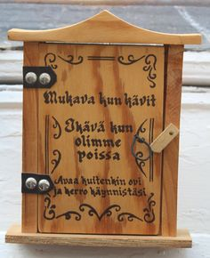 "Traditional ""sorry we missed you"" message box from Finland"