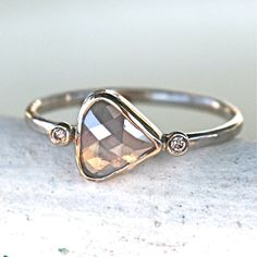 """""""This diamond ring will make the perfect engagement, wedding or anniversary ring for the eco-conscious, ultra unique super woman of your dreams"""" by Samantha McIntosh on etsy"""
