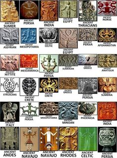 """The Symbols for the Creator God, across all cultures, almost identical, Coincidence, Or Ancient Aliens?because aliens are easier to believe than """"white people"""" (psst.white people were called divine even by the native americans) Ancient Symbols, Ancient Aliens, Ancient Artifacts, Mayan Symbols, Viking Symbols, Egyptian Symbols, Viking Runes, Egyptian Mythology, Egyptian Goddess"""